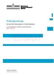 Prüfungsordnung - Westfälische Wilhelms-Universität Münster