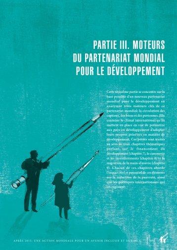 partie iii. moteurs du partenariat mondial pour le développement