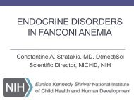 Endocrine disorders in fanconi anemia