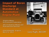 Impact of Boron Discharge Standard at Automotive Engine Plant