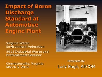 Impact of Boron Discharge Standard at Automotive Engine Plant