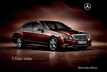 E - Klass sedan - Mercedes-Benz