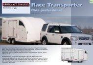 Race Transporter - Fieldfare Trailer Centre