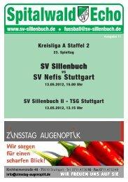 Spitalwald Echo Nr. 11 - Fußball beim SV Sillenbuch