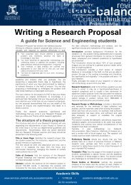 Writing a Research Proposal - Student Services - University of ...