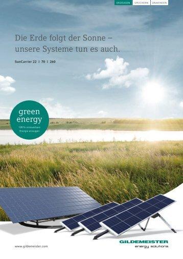 Die Erde folgt der Sonne – unsere Systeme tun es ... - Gildemeister
