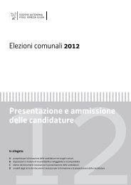 Istruzioni per la presentazione delle candidature - elezioni comunali