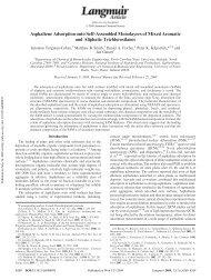 Asphaltene Adsorption onto Self-Assembled Monolayers of Mixed ...
