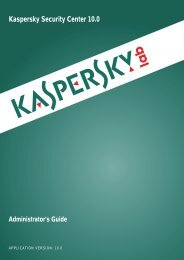 Kaspersky Security Center 10.0 Administrator's Guide
