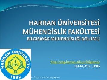 Tıklayınız... - Mühendislik Fakültesi - Harran Üniversitesi
