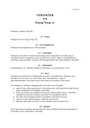 VEDTEKTER Energi Norge AS