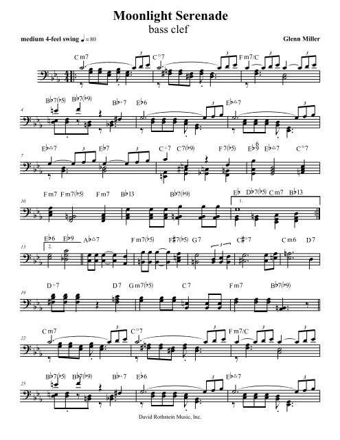 Moonlight Serenade - bass clef - David Rothstein Music