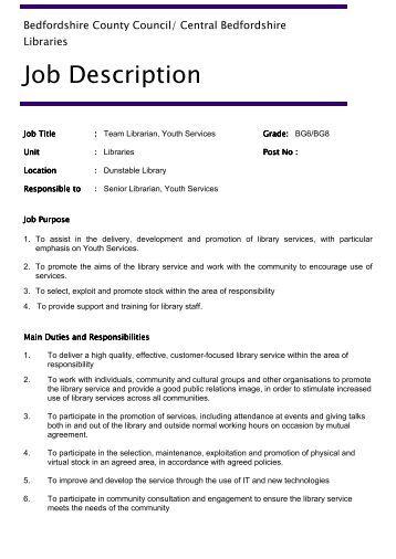 Job Description - Bedfordshire County Council