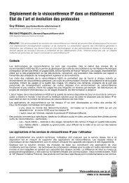 Déploiement de la visioconférence IP dans un établissement Etat de ...