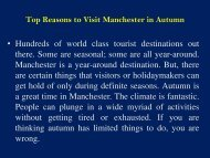 Top Reasons to Visit Manchester in Autumn