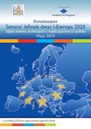 Semma' leħnek dwar l-Ewropa 2020