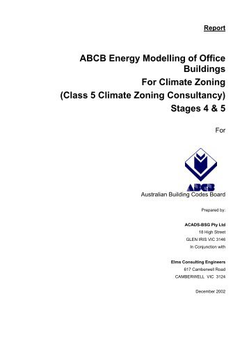 Energy Modelling of Office Buildings For Climate Zoning