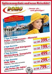 DIES ALLES ist bereits INBEGRIFFEN! - Domo Reisen GmbH