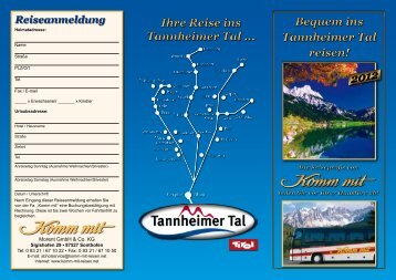 Ihre Reise ins Tannheimer Tal ... Ihre Reise ins Tannheimer Tal ...