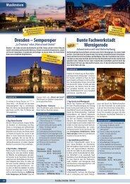 Bunte Fachwerkstadt Wernigerode Dresden ... - Gerken Reisen