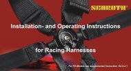 Installation- and Operating Instructions for Racing Harnesses
