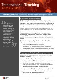 Approaching student-centred learning and teaching - RMIT University