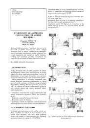 hydrostatic transsmisions calculation for mobile machines