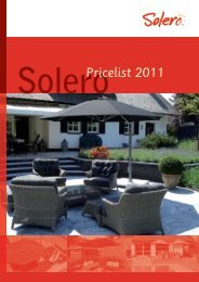SoleroPricelist 2011 - Solero Parasols