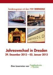 Anmeldeformular Jahreswechsel in Dresden vom 29. Dezember 2012