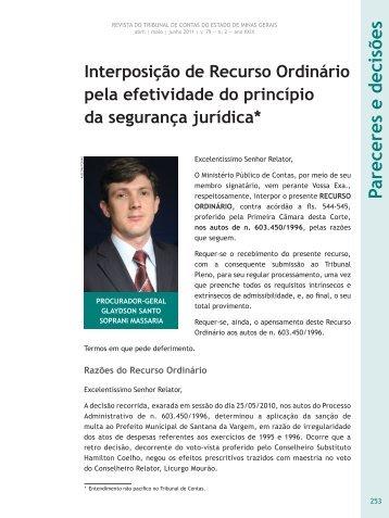 Pareceres e decisões - Revista do TCE