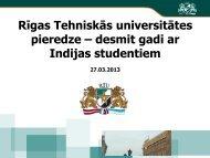 Rīgas Tehniskās universitātes pieredze