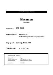 SNA110 - Medisinske og naturvitenskapelige emner - 17122009