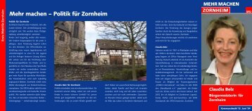 Mehr machen – Politik für Zornheim