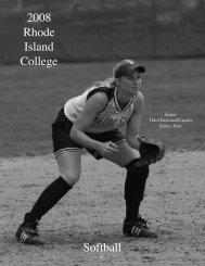 The 2008 Rhode Island College Softball Team