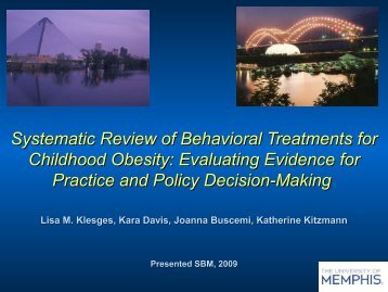 Systematic Review of Behavioral Treatments for Childhood Obesity ...