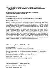 Souvenirs, PR und die (Re-)Produktion von - DGV-Tagung 2011