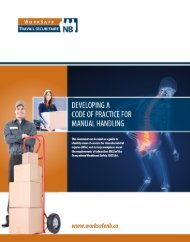 Developing a Code of Practice for Manual Handling - WorkSafeNB