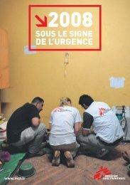DE L'URGENCE - Médecins Sans Frontières