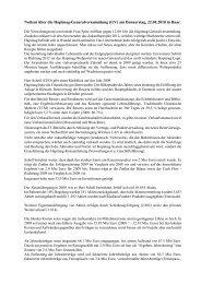 Notizen über die Hapimag-Generalversammlung (GV) am ...