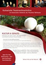 KULTUR & GENUSS - August das Starke Theater