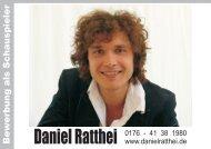 B e w e rb u n g a ls S c h a u s p ie le r - Daniel Ratthei