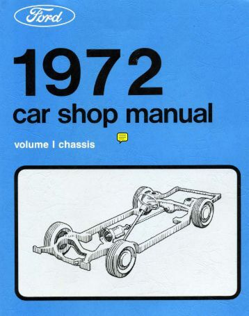 DEMO - 1972 Ford Car Shop Manual - ForelPublishing.com