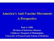 America's Anti-Vaccine Movement: A Perspective