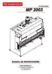 Manual de la Plegadora Hidráulica MP1030