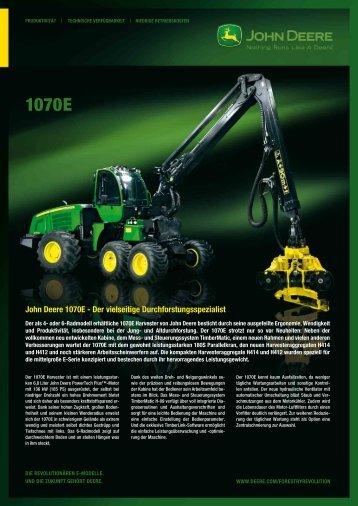 1070E Harvester Broschüre - John Deere