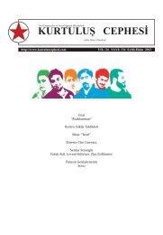 134. Sayı Özgün Formatıyla - Kurtuluş Cephesi Dergisi