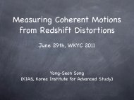 Measuring Coherent Motions from Redshift Distortions - KIAS