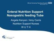 Enteral Nutrition Support Nasogastric feeding Tube