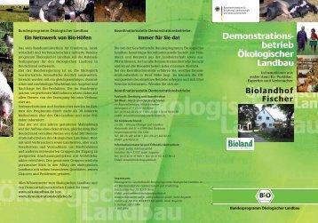 Faltblatt Demobetrieb - Biolandhof Fischer