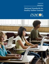 National Standards for Quality Online Courses: Version 2 - iNACOL